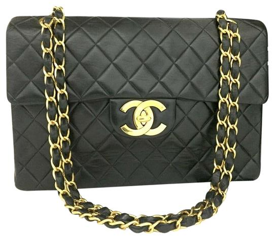 Preload https://img-static.tradesy.com/item/26593924/chanel-xl-maxi-jumbo-34-quilted-matelasse-lambskin-2214c20-black-shoulder-bag-0-1-540-540.jpg