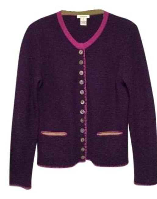 Preload https://img-static.tradesy.com/item/26594336/sundance-purple-kristen-merino-wool-round-crew-neckline-contrast-pink-stick-details-throughout-grosg-0-1-650-650.jpg