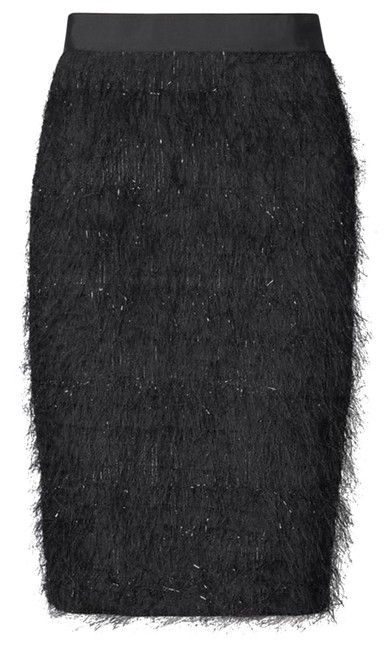 Item - Black Eyelash Fringe Skirt Size Petite 0 (XXS)