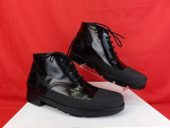 Item - Black Patent Leather Rubber Toe Lace Up Ankle Boots #373426 42 9 Shoes