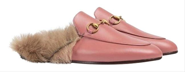 Item - Pink Leather Shearling Fur Lined Slipper Flats Size US 7 Narrow (Aa, N)