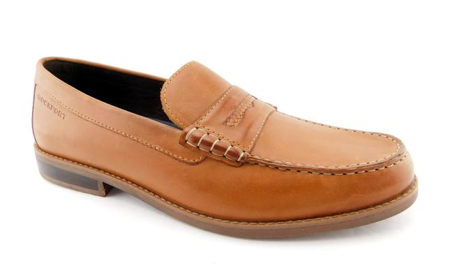 Item - Tan Leather Slip-on Penny Men's Loafers 12 Shoes