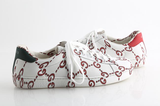 Gucci White Web Logo New Ace Sneakers Shoes Gucci White Web Logo New Ace Sneakers Shoes Image 1