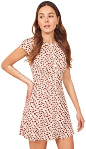Reformation short dress Red Floral on Tradesy