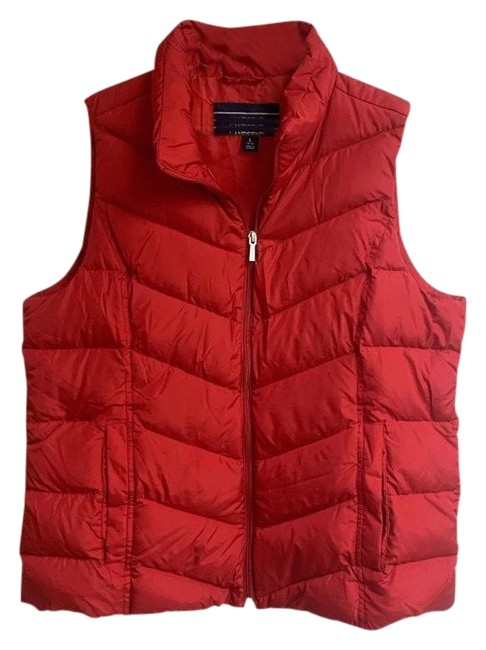 Item - Red Women's Winter Down Puffer Large Red. Condition Is Pre-owned. Shipped with Usps Priority Mail. 23 To Vest Size 12 (L)