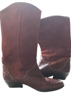 Via Spiga Suede Leather Italian Rust Boots