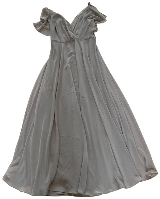 Item - Taupe Gray Convertible Long Formal Dress Size 2 (XS)