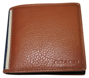 Coach Coach men's LEATHER COMPACT ID WALLET, Coach men's multi-function wallet (ship via Priority Mail) (Gift box is included)