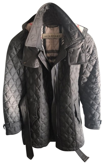 Item - Gray Belted Mid Length Coat. Worn One Time Unique Color Removable Hood. Jacket Size 12 (L)