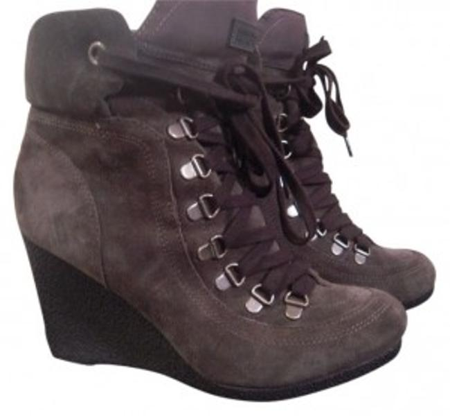 Item - Military Green Wedge Ankle Lace-up Boots/Booties Size US 9 Regular (M, B)