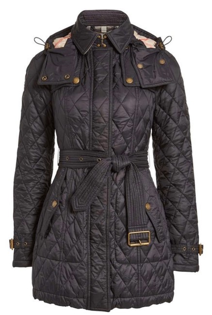 Item - Black Finsbridge Quilted Belted Check Jacket Size 16 (XL, Plus 0x)