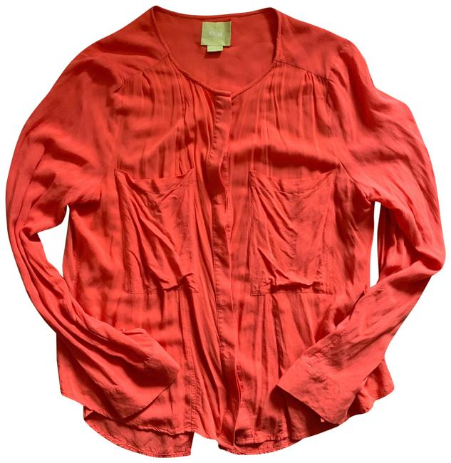 Item - Coral/Red Maeve Button-down Top Size 10 (M)