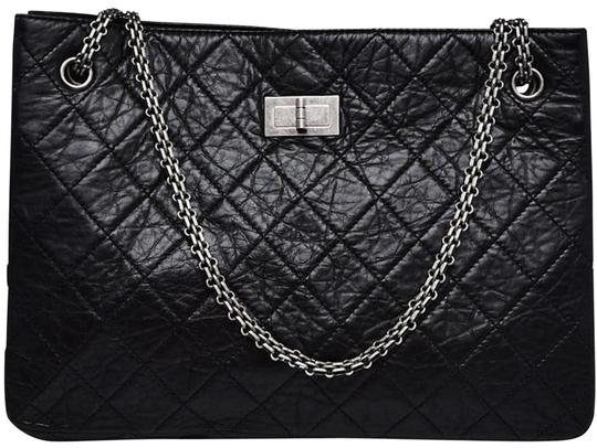 Preload https://img-static.tradesy.com/item/26597119/chanel-255-reissue-tote-reissue-computer-laptop-work-business-classic-black-calfskin-leather-weekend-0-1-540-540.jpg
