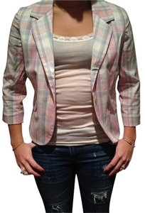 Juicy Couture Pastel Plaid Blazer