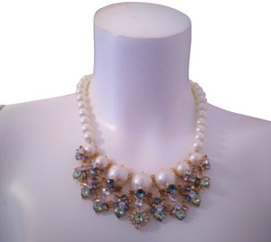 Charter Club Charter Club Gold-Tone Crystal & Imitation Pearl Necklace
