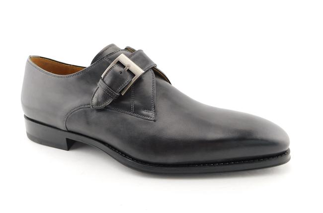 Item - Smoke Gray Leather Monk Strap Loafers Men's 12 Shoes