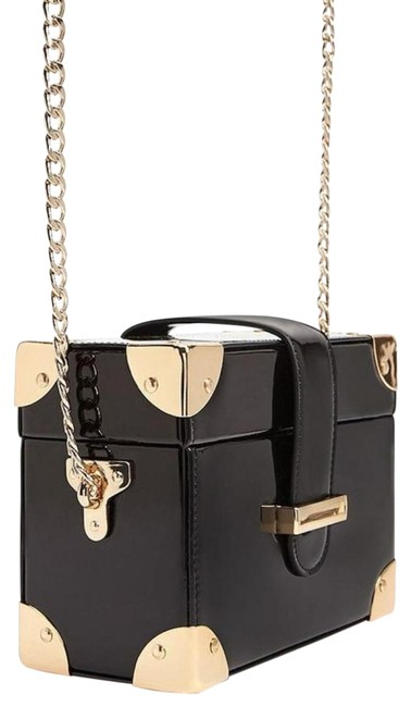 Item - Women's Patent Leather Black Pvc Cross Body Bag