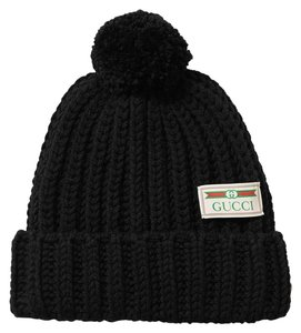 Gucci Pompom-embellished ribbed wool beanie SIZE S