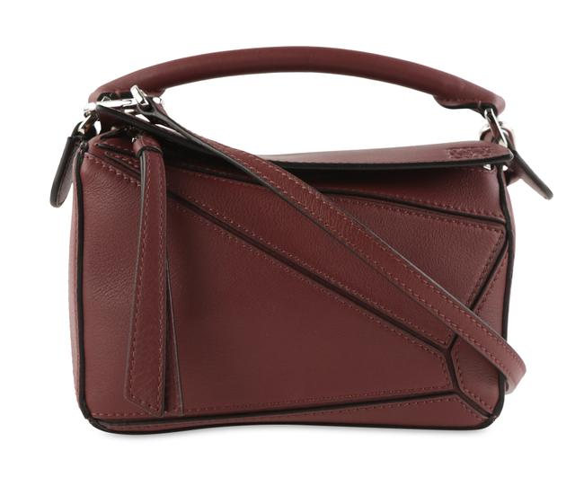 Item - Mini Puzzle Red Calfskin Leather Cross Body Bag