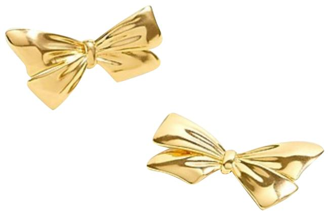 Item - Gold Bows Studs Earrings