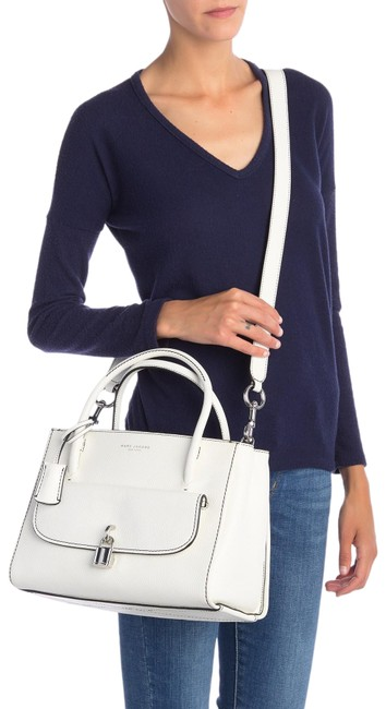 Item - Bag Lock That Light Grey Leather Tote