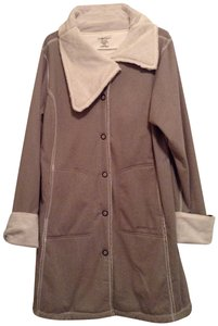 Exofficio Activewear Yoga Sweatshirt Sherpa Topper Trench Coat