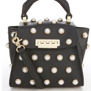 Zac Posen Satchel in Black, white, gold