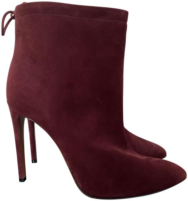 Item - Burgundy Azzedine Suede Bow Back Pointed Ankle Boots/Booties Size EU 41 (Approx. US 11) Regular (M, B)