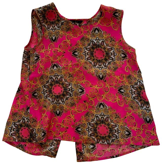 Item - Red and Black Nwot Paisley Small Open Blouse Size 4 (S)