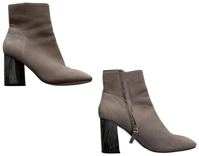 Item - Tan and Grey Suede Wood Like Ankle Boots/Booties Size US 7 Regular (M, B)
