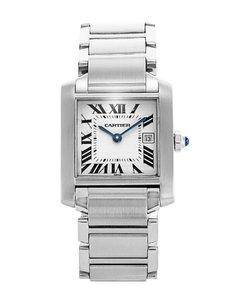 Cartier CARTIER STAINLESS STEEL 25MM TANK FRANCAISE LADIES W51011Q3