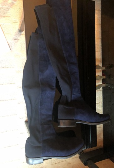 Stuart Weitzman blue suede. black in the back. Boots Image 1