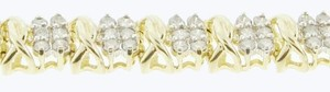 DIMAONDSY Best Wholesale deal - Gorgeous for Mother's day 4 carat total weight 10K Yellow gold bracelet