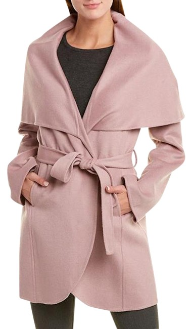 Item - Pink Marla Belted Double Face Wool Blend Wrap Powder Coat Size 8 (M)