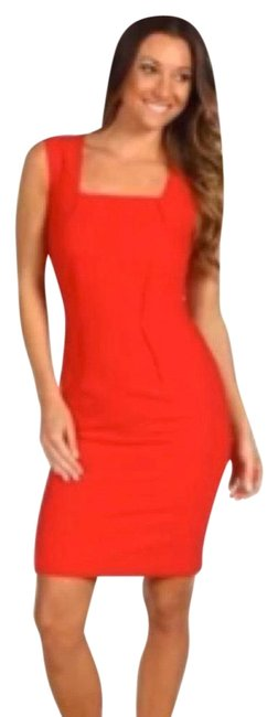 Item - Red Evelyn Mid-length Work/Office Dress Size 6 (S)