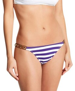 DESPI DESPI leather stud bikini bottom marvista stripe