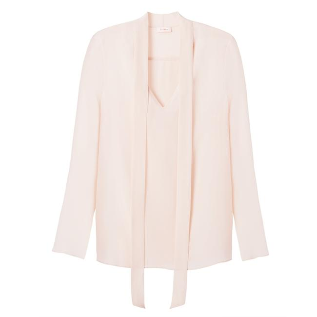 Item - Blush Pink Crepe De Chine Silk Large Blouse Size 14 (L)