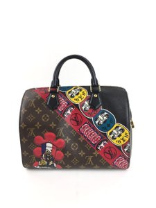 Louis Vuitton Speedy 30 Kabuki Collection Shoulder Bag