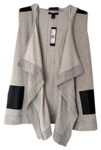 Kenneth Cole Faux Leather New With Tags Cardigan