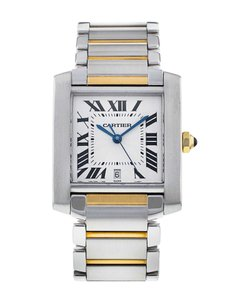 Cartier CARTIER TANK FRANCAISE 18K Gold and Steel 28mm Unisex W51005Q4