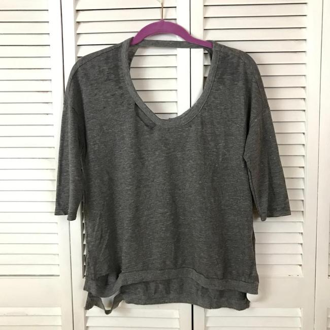 Chaser Distressed Ripped Grunge Yeezy Soft T Shirt Gray Image 2