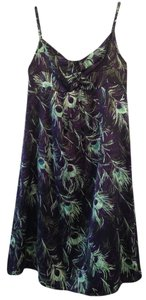 Beth Bowley Peacock Silk Spaghetti Strap Sweetheart Neckline Empire Waist Dress