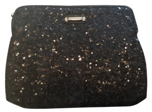 Nine West Sequine Black Clutch
