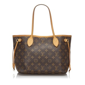 Louis Vuitton 9llvto057 Vintage Leather Tote in Brown