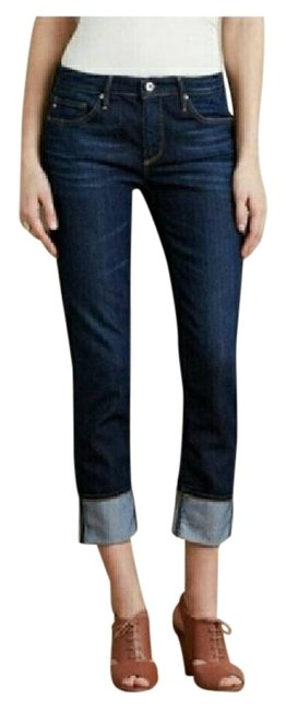 Item - Blue Medium Wash Stevie Cuffed Straight Leg Jeans Size 26 (2, XS)