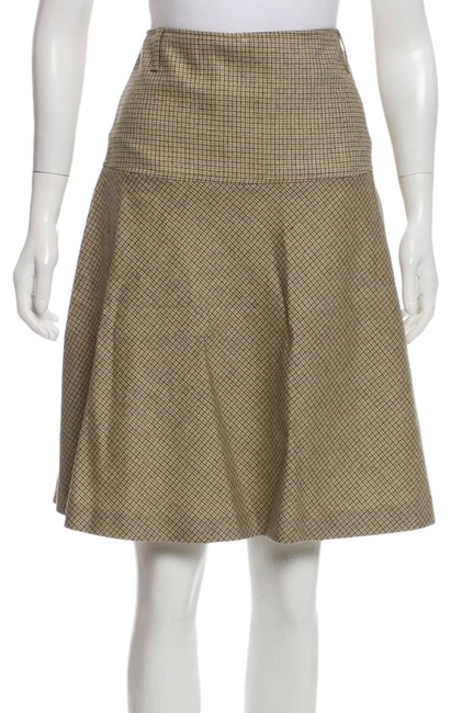 Item - Yellow/Green Sheila Wool Skirt Size 6 (S, 28)