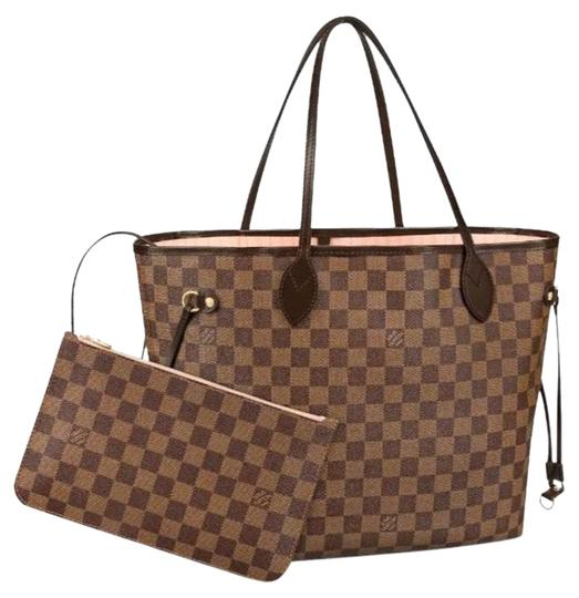 Preload https://img-static.tradesy.com/item/26606476/louis-vuitton-neverfull-mm-with-pouch-damier-ebene-rose-ballerine-coated-canvas-tote-0-1-540-540.jpg