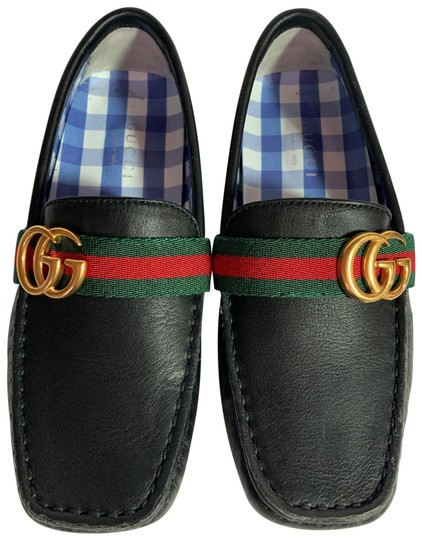 Preload https://img-static.tradesy.com/item/26606488/gucci-black-kids-gg-web-leather-loafer-flats-size-eu-34-approx-us-4-regular-m-b-0-1-540-540.jpg