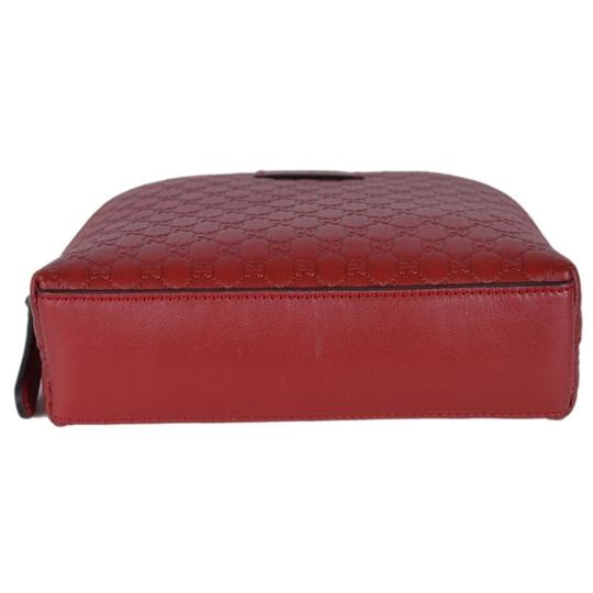 Gucci Leather Microguccissima Cosmetic Case Red Travel Bag Image 5