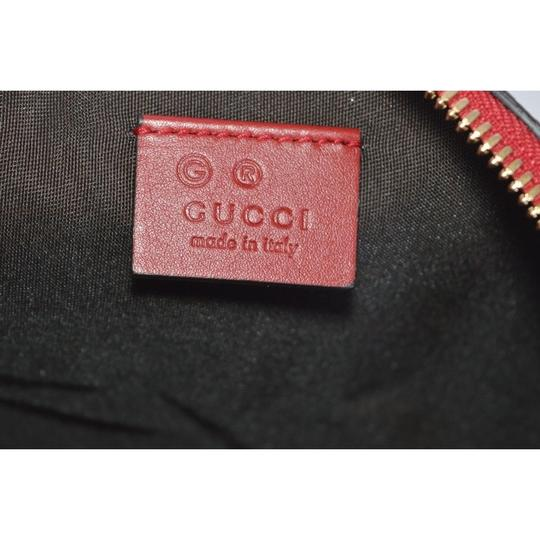 Gucci Leather Microguccissima Cosmetic Case Red Travel Bag Image 7
